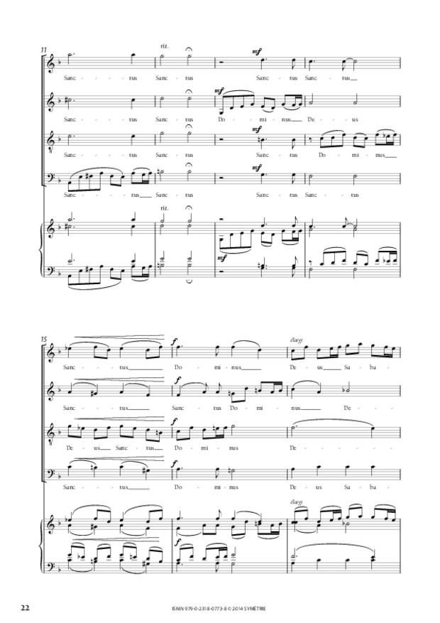 Messe à quatre voix, extrait 5