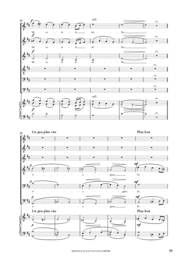 Messe à quatre voix, extrait 6
