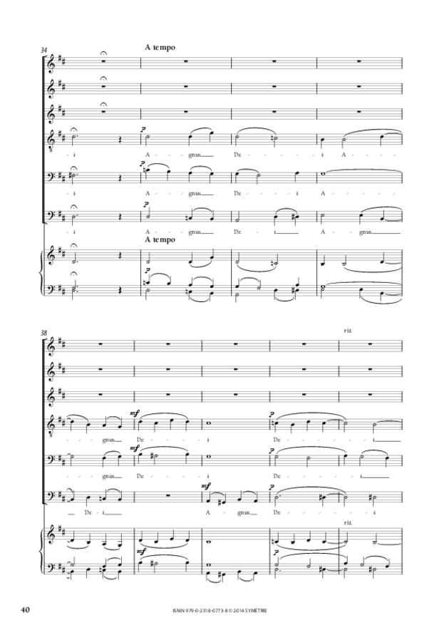 Messe à quatre voix, extrait 7