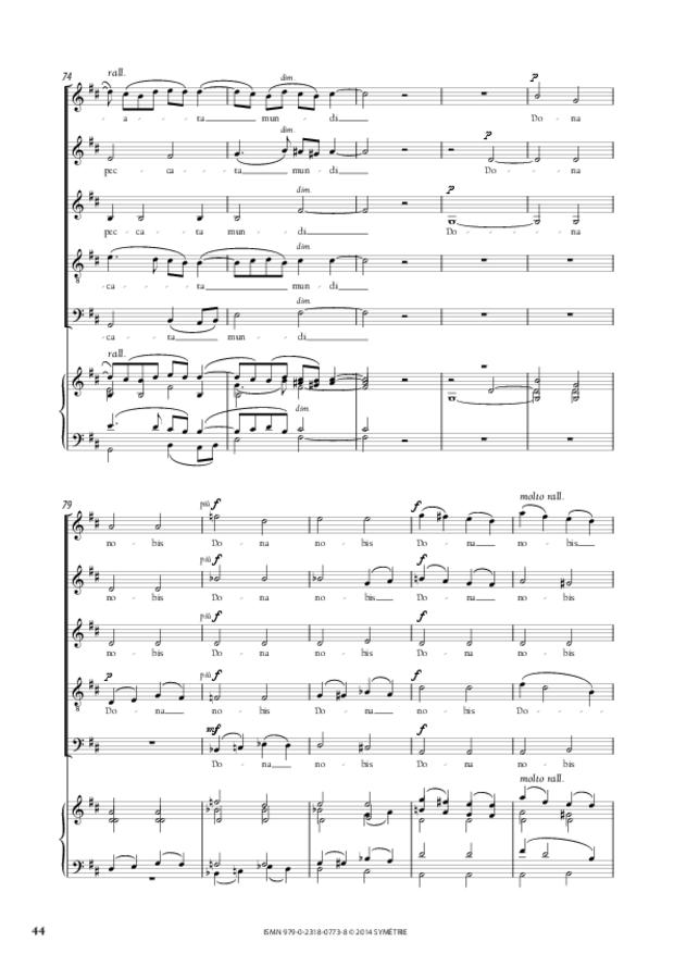 Messe à quatre voix, extrait 8