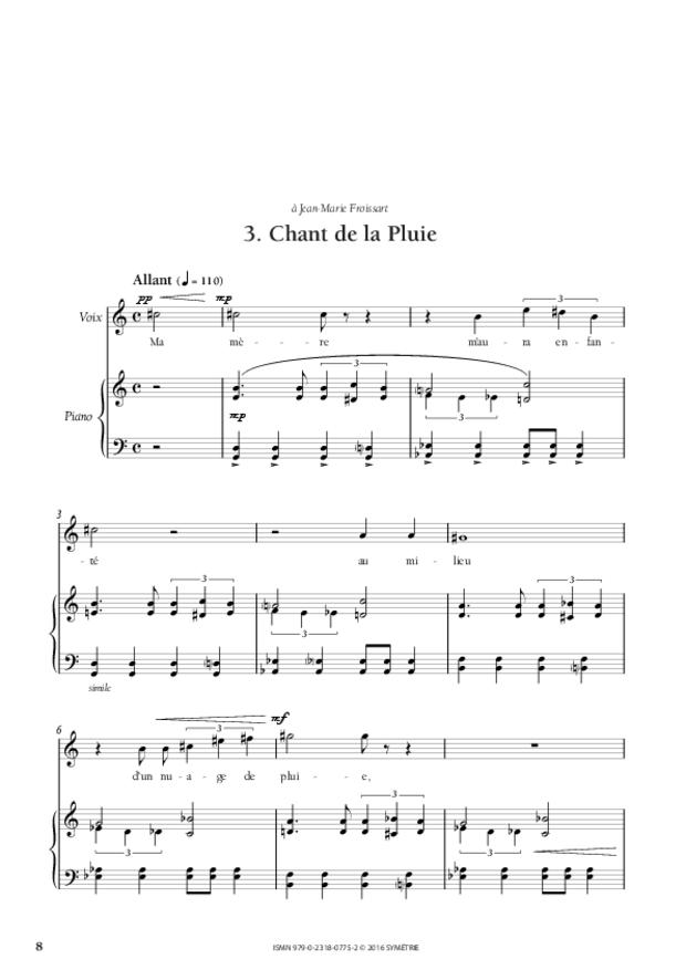 Chansons incas, extrait 2