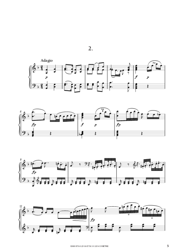 Sonate en fa majeur, extrait 2