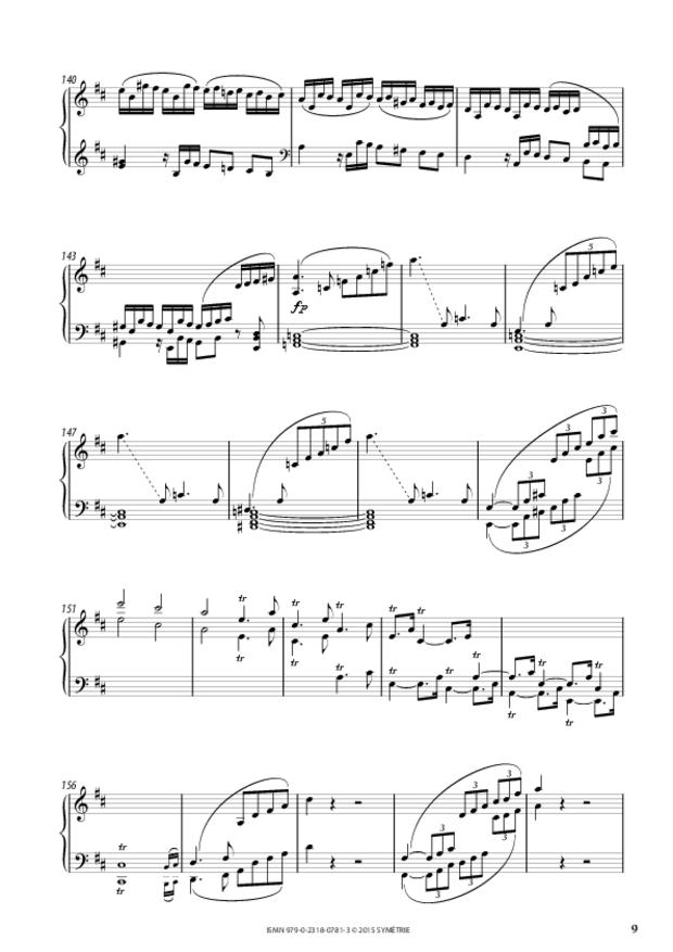 Sonate en ré, extrait 3