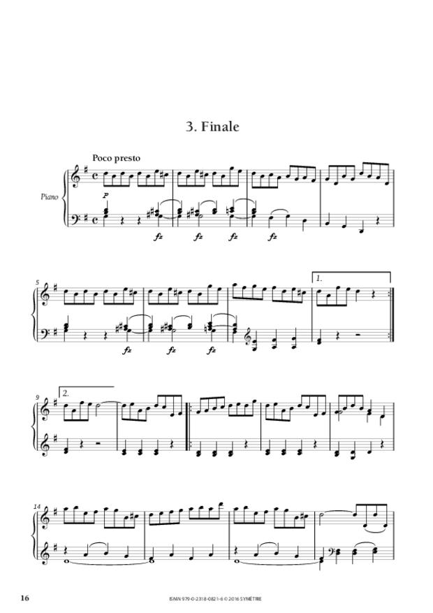 Sonate en sol majeur op.46, n°1, extrait 5