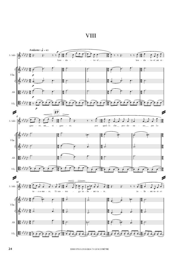 Laudes creaturarum, extrait 5