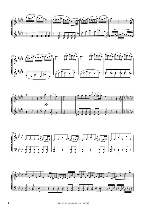 Sonate en mi majeur op.46, n°3, extrait 2