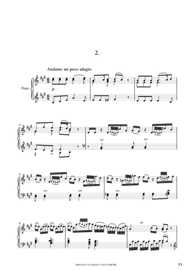 Sonate en mi majeur op.46, n°3, extrait 3