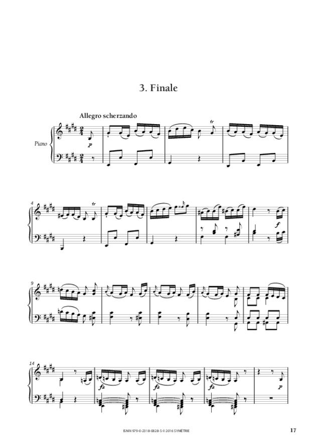 Sonate en mi majeur op.46, n°3, extrait 4
