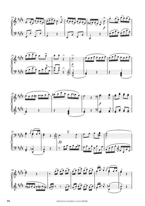 Sonate en mi majeur op.46, n°3, extrait 5