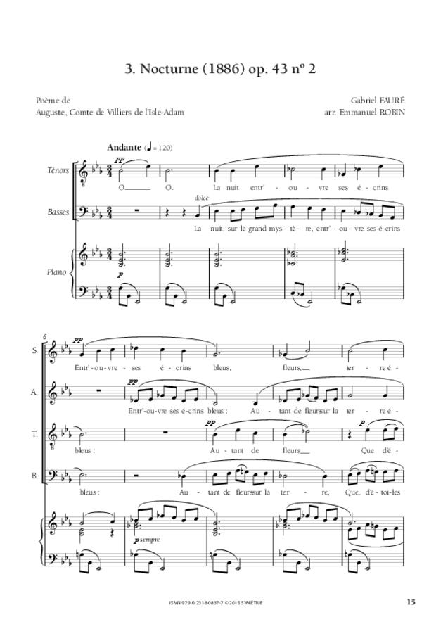 Trois Mélodies, extrait 3