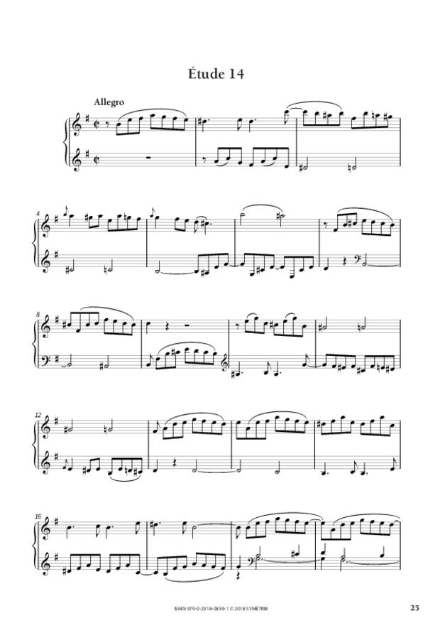 34 Études dans le genre fugué op. 97, extrait 7