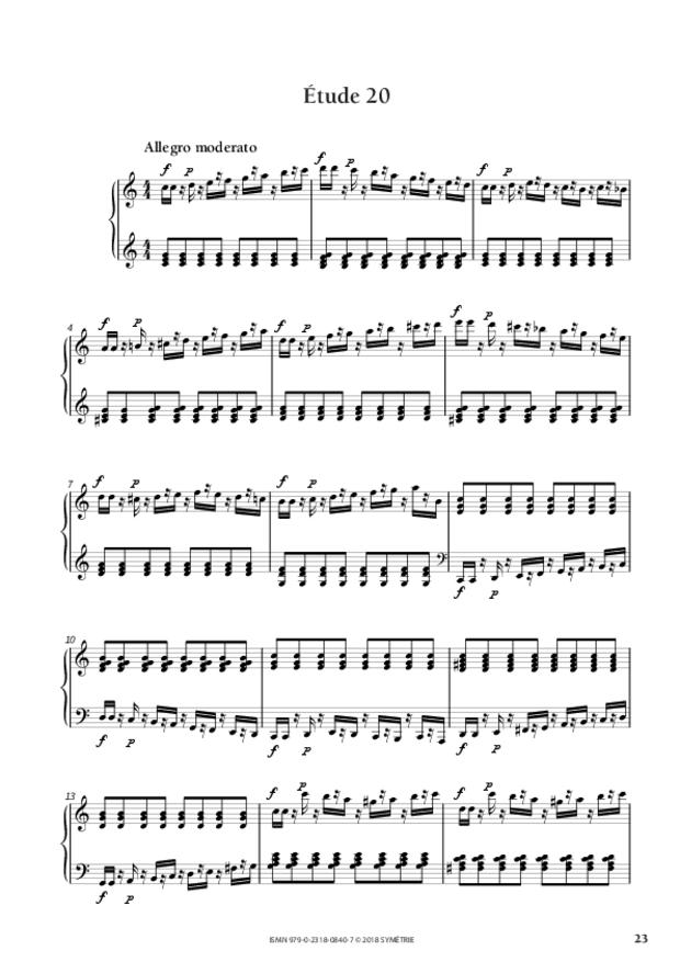 34 Études dans le genre fugué op. 97, extrait 3