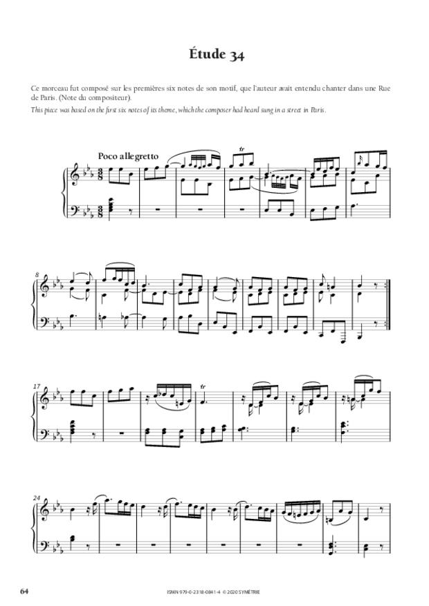 34 Études dans le genre fugué op. 97, extrait 11