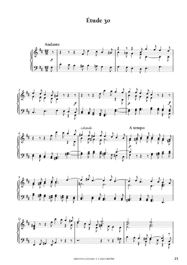 34 Études dans le genre fugué op. 97, extrait 6