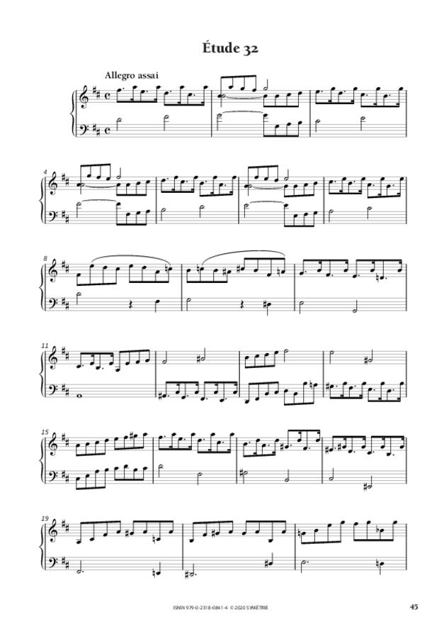 34 Études dans le genre fugué op. 97, extrait 9