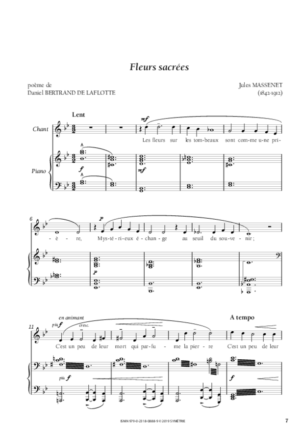 Quatre Mélodies oubliées, extrait 2