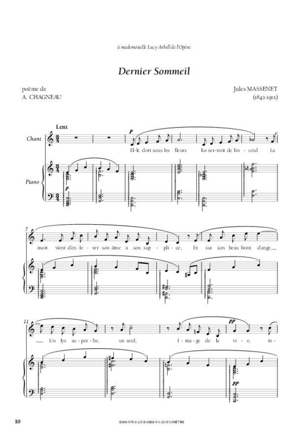 Quatre Mélodies oubliées, extrait 3