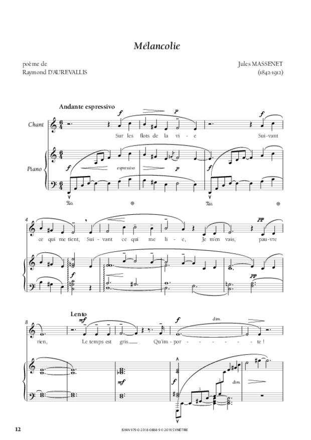 Quatre Mélodies oubliées, extrait 4