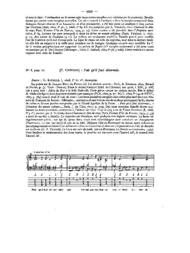 Airs de cour pour voix et luth, extrait 3