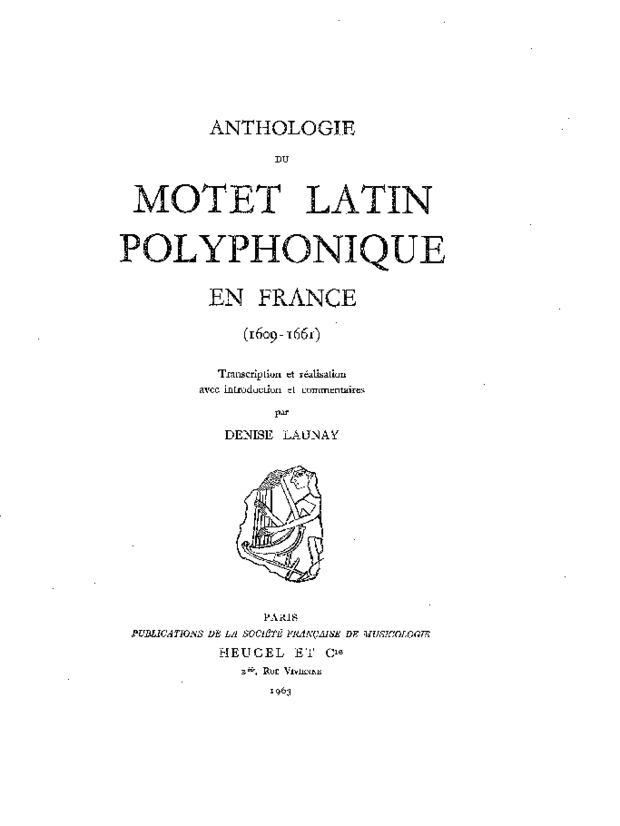 Anthologie du motet latin polyphonique en France, extrait 1
