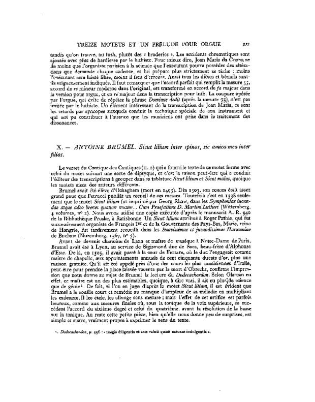 Treize Motets et un prélude pour orgue, extrait 3