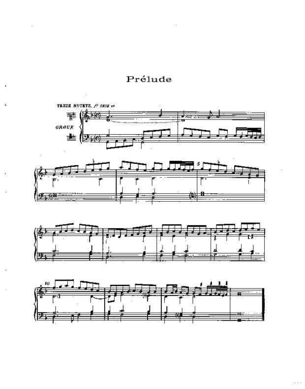 Treize Motets et un prélude pour orgue, extrait 4