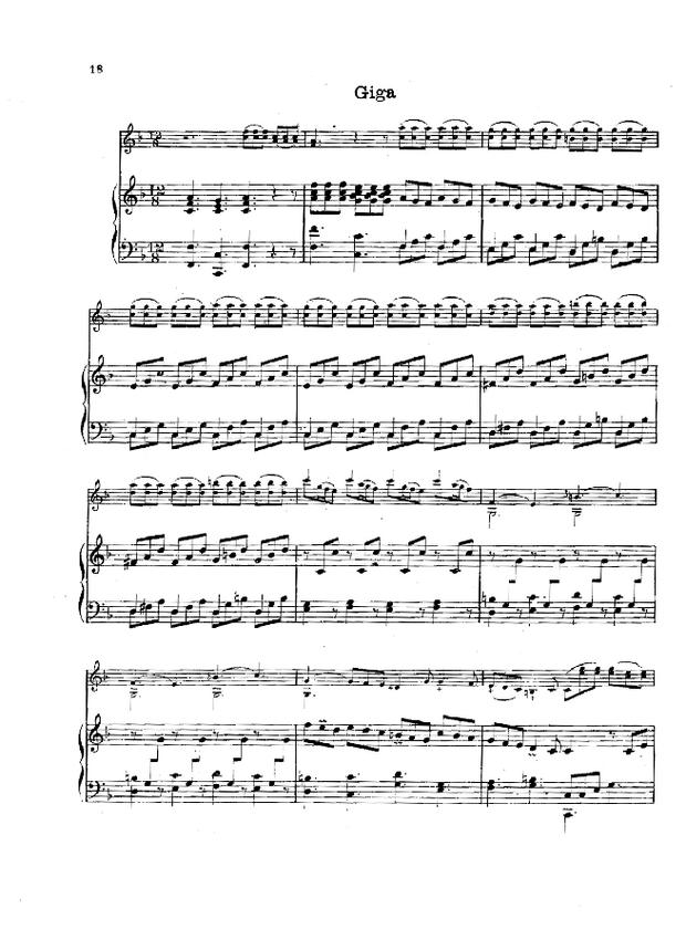 Pièces de clavecin en sonates avec accompagnement de violon, extrait 4