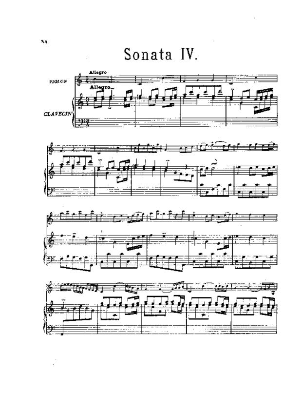 Pièces de clavecin en sonates avec accompagnement de violon, extrait 5