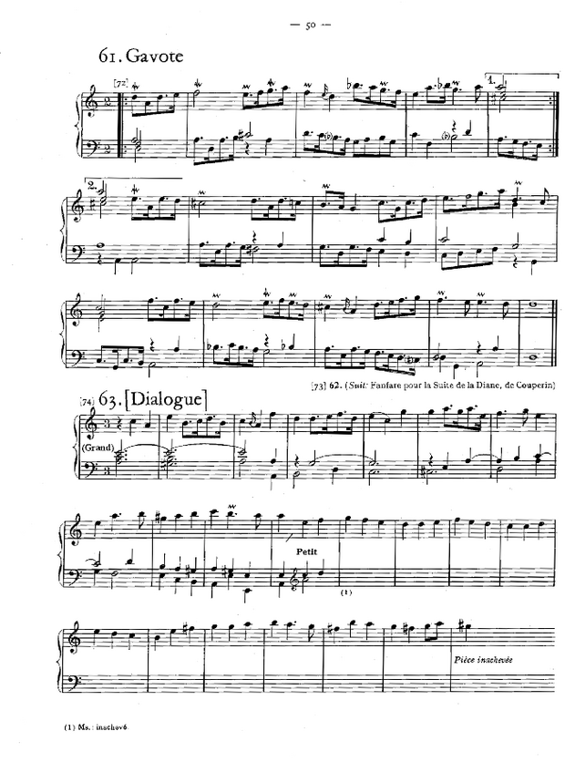 Petites pièces d'orgue, extrait 5