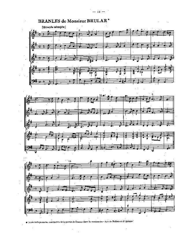 Pièces pour le violon à quatre parties de différents autheurs, extrait 5