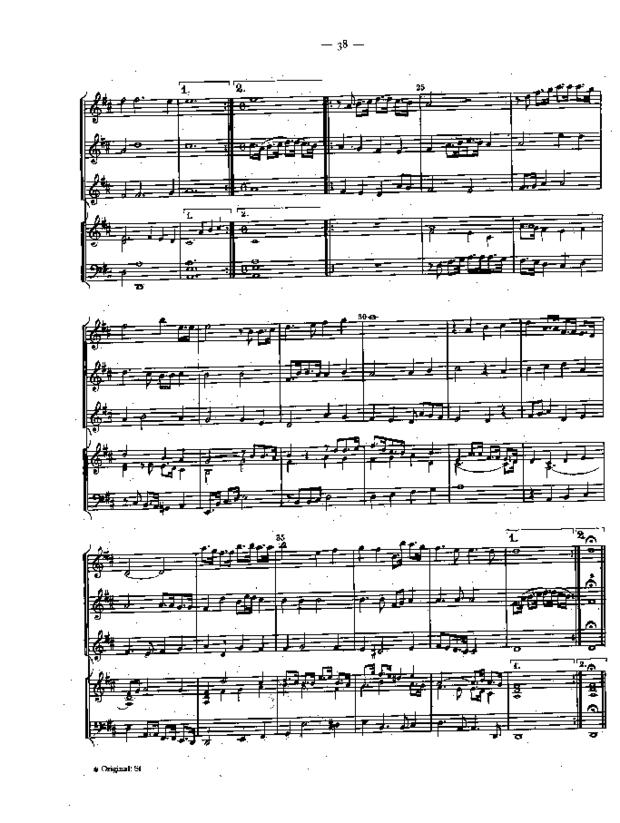 Pièces pour le violon à quatre parties de différents autheurs, extrait 6