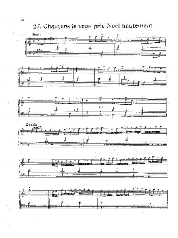 Livre de noëls variés pour orgue, extrait 4