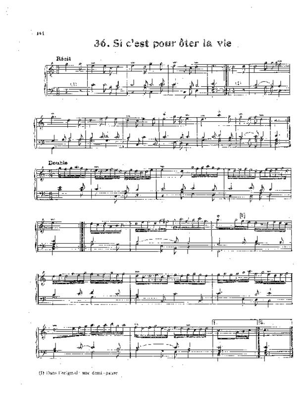 Livre de noëls variés pour orgue, extrait 5