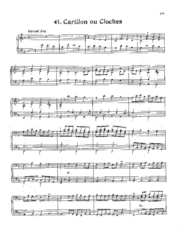 Livre de noëls variés pour orgue, extrait 6