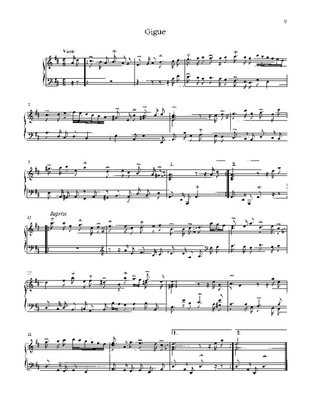 Pièces de clavecin, extrait 3