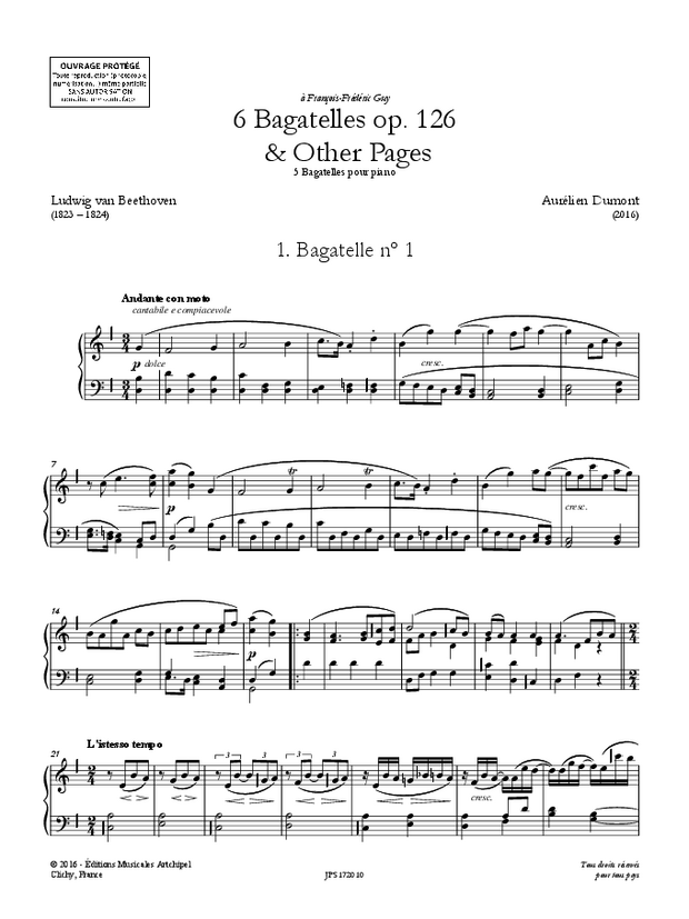 Bagatelles op. 126 & Other Pages, extrait 1