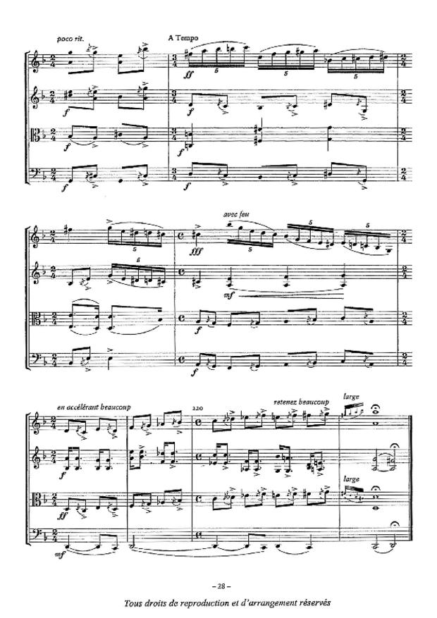 Quatuor n° 2, extrait 5