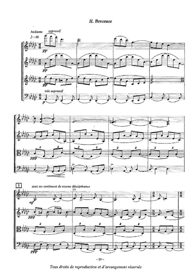 Quatuor n° 2, extrait 6