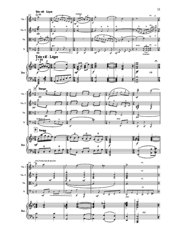 Quintette en fa majeur pour cordes et piano, extrait 11