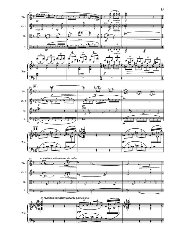 Quintette en fa majeur pour cordes et piano, extrait 15