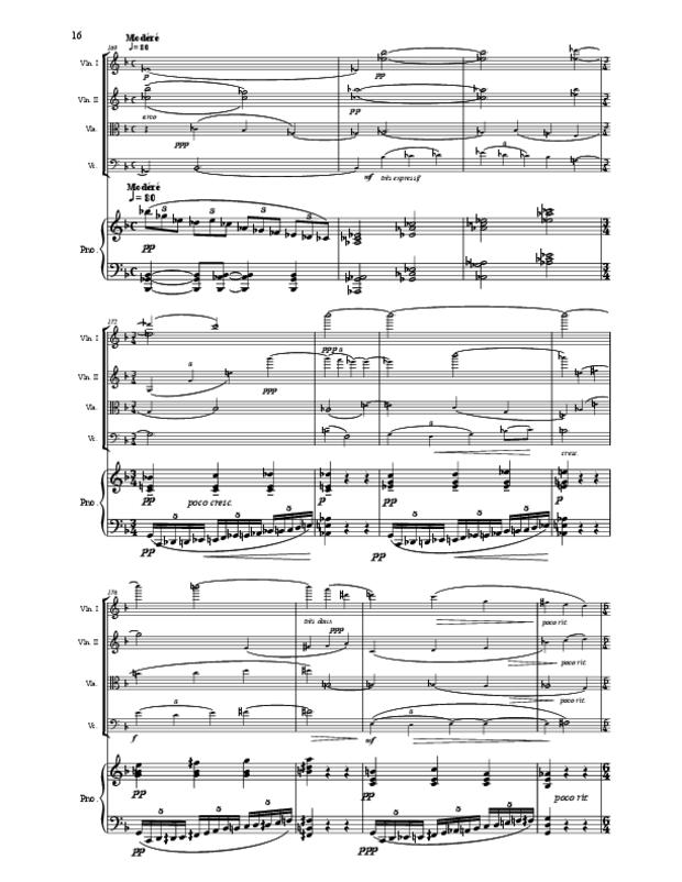 Quintette en fa majeur pour cordes et piano, extrait 16
