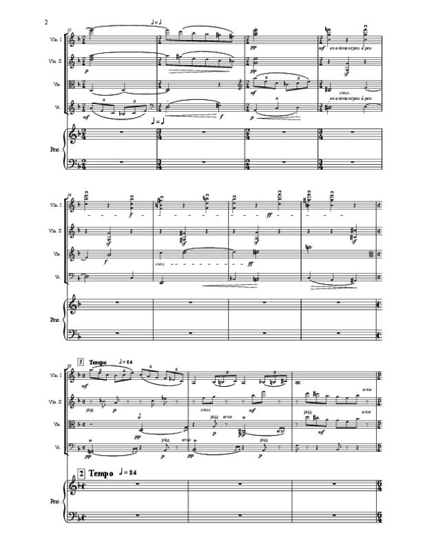 Quintette en fa majeur pour cordes et piano, extrait 2