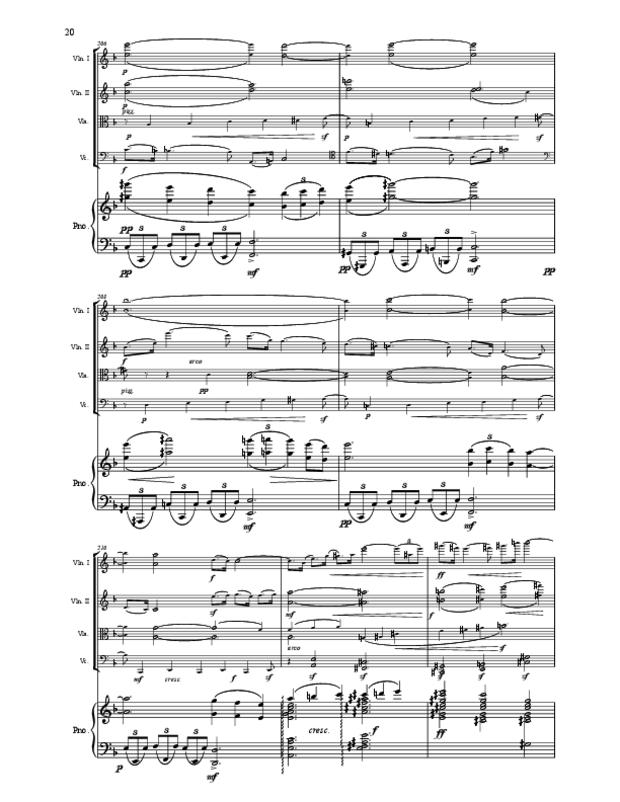 Quintette en fa majeur pour cordes et piano, extrait 20