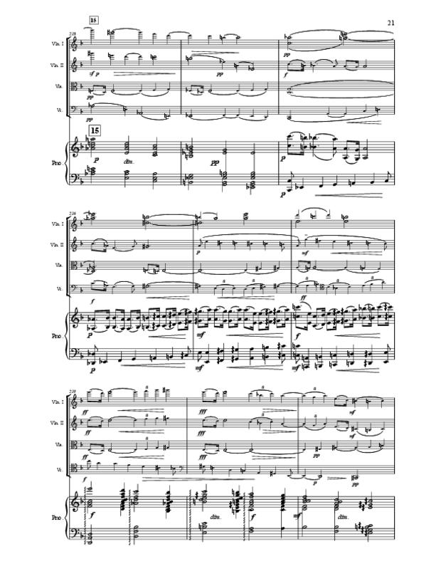 Quintette en fa majeur pour cordes et piano, extrait 21