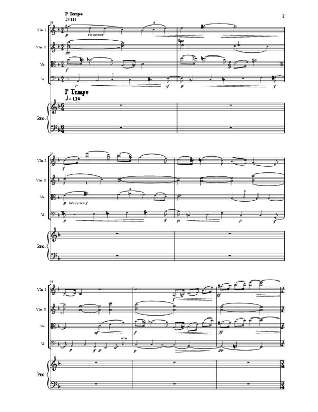 Quintette en fa majeur pour cordes et piano, extrait 3