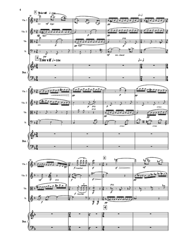 Quintette en fa majeur pour cordes et piano, extrait 4