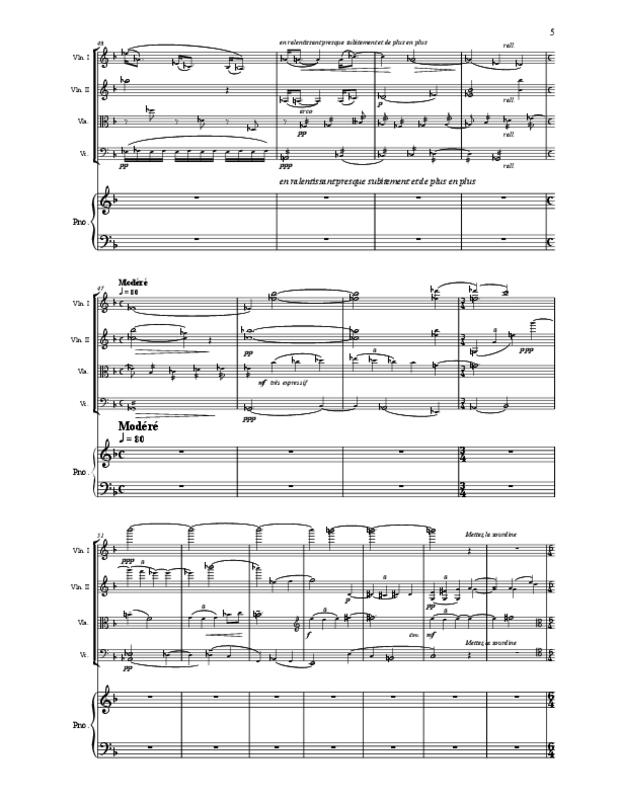 Quintette en fa majeur pour cordes et piano, extrait 5