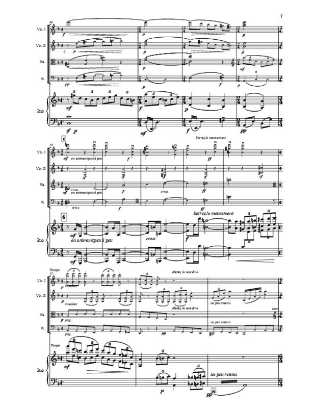 Quintette en fa majeur pour cordes et piano, extrait 7
