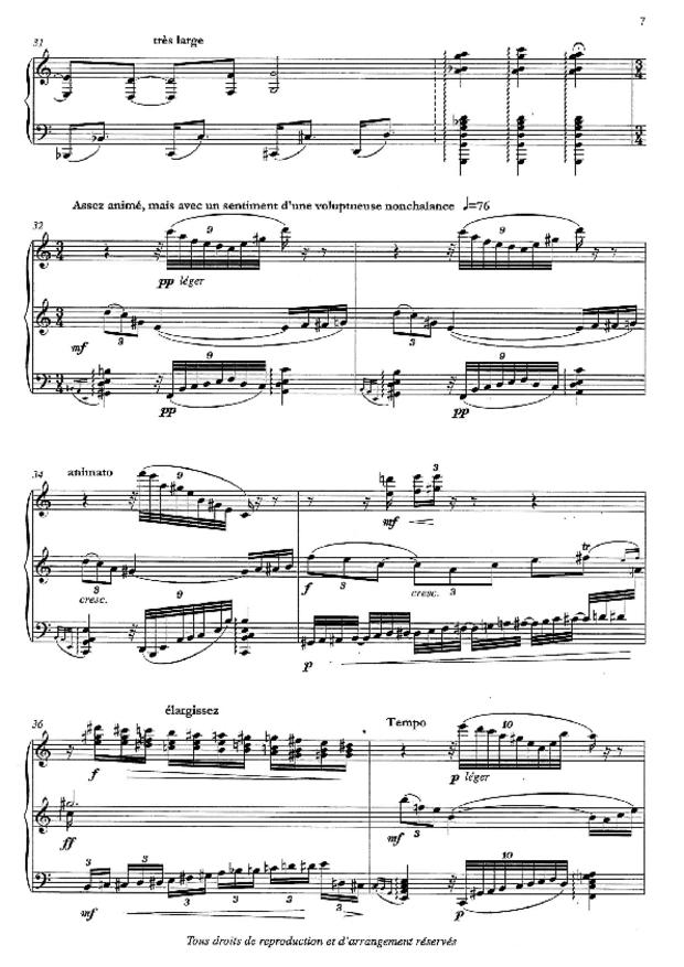 Aube, Sonate d'été, extrait 3