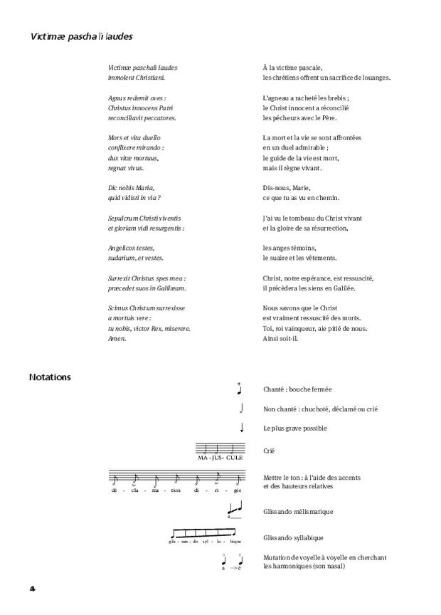 Victimæ Paschalis Laudes, extrait 4